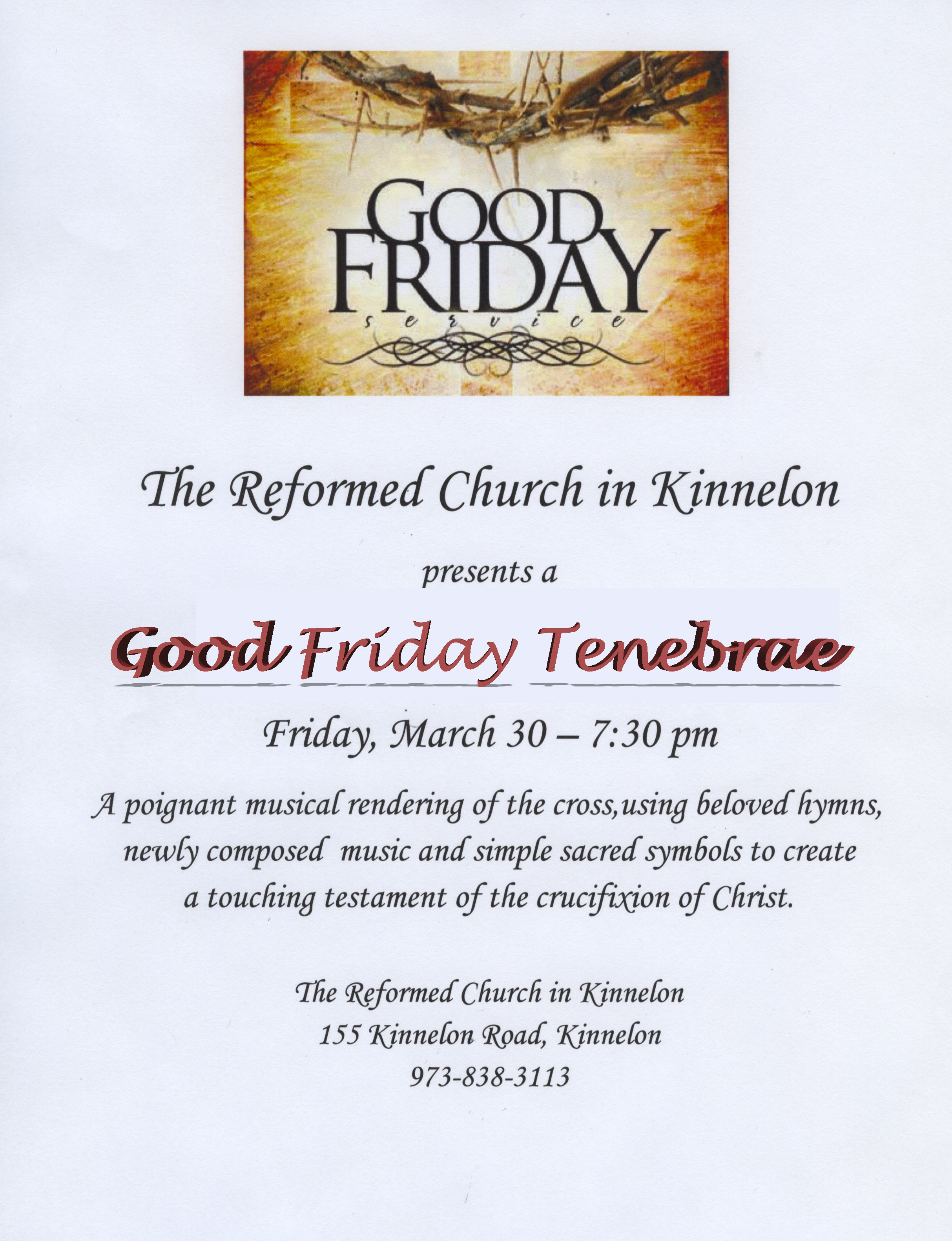 The good earth symbols choice image symbol and sign ideas good friday tenebrae service the reformed church in kinnelon left click to enlarge flyer buycottarizona choice buycottarizona Choice Image